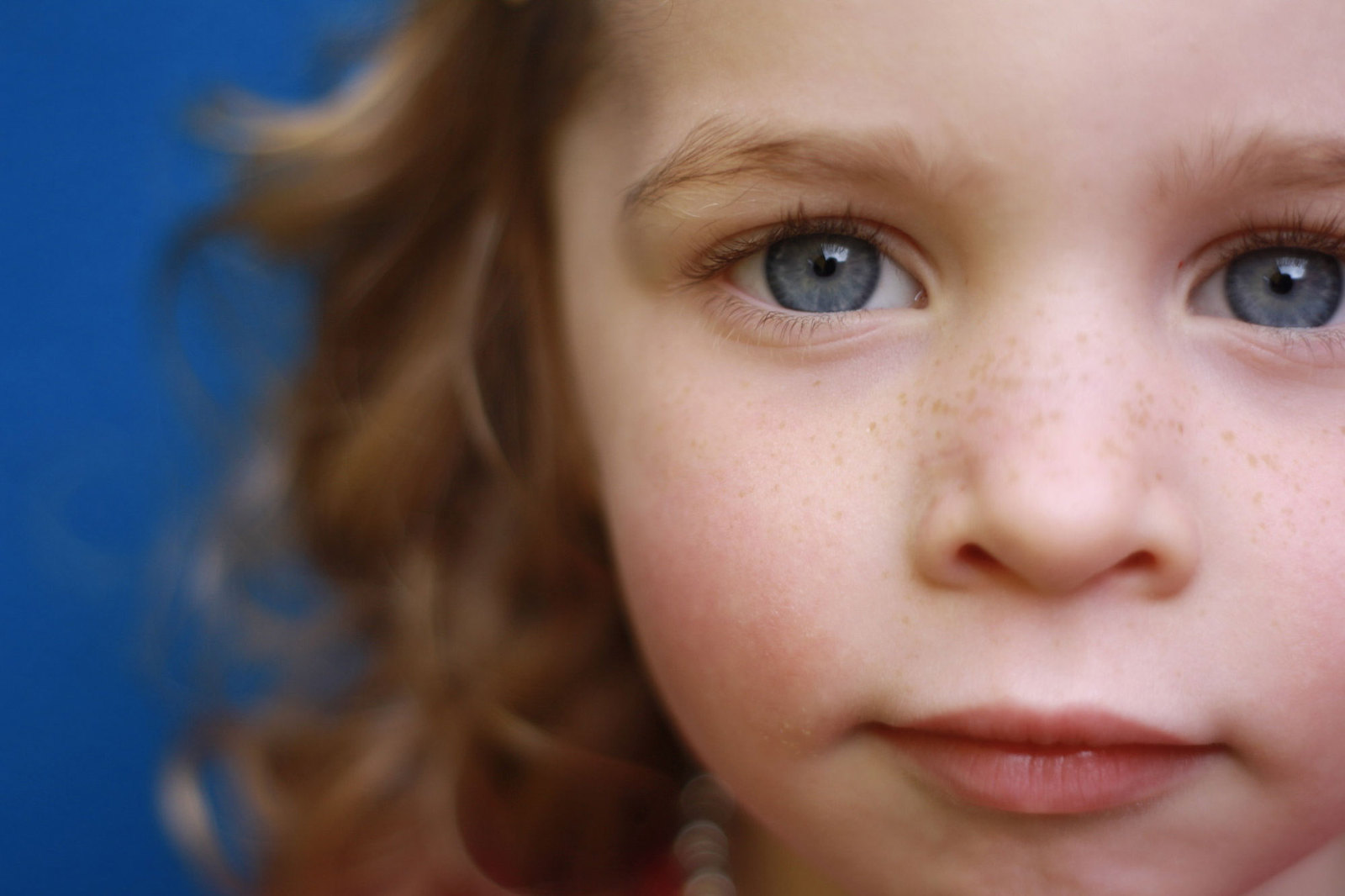 Closeup child photo