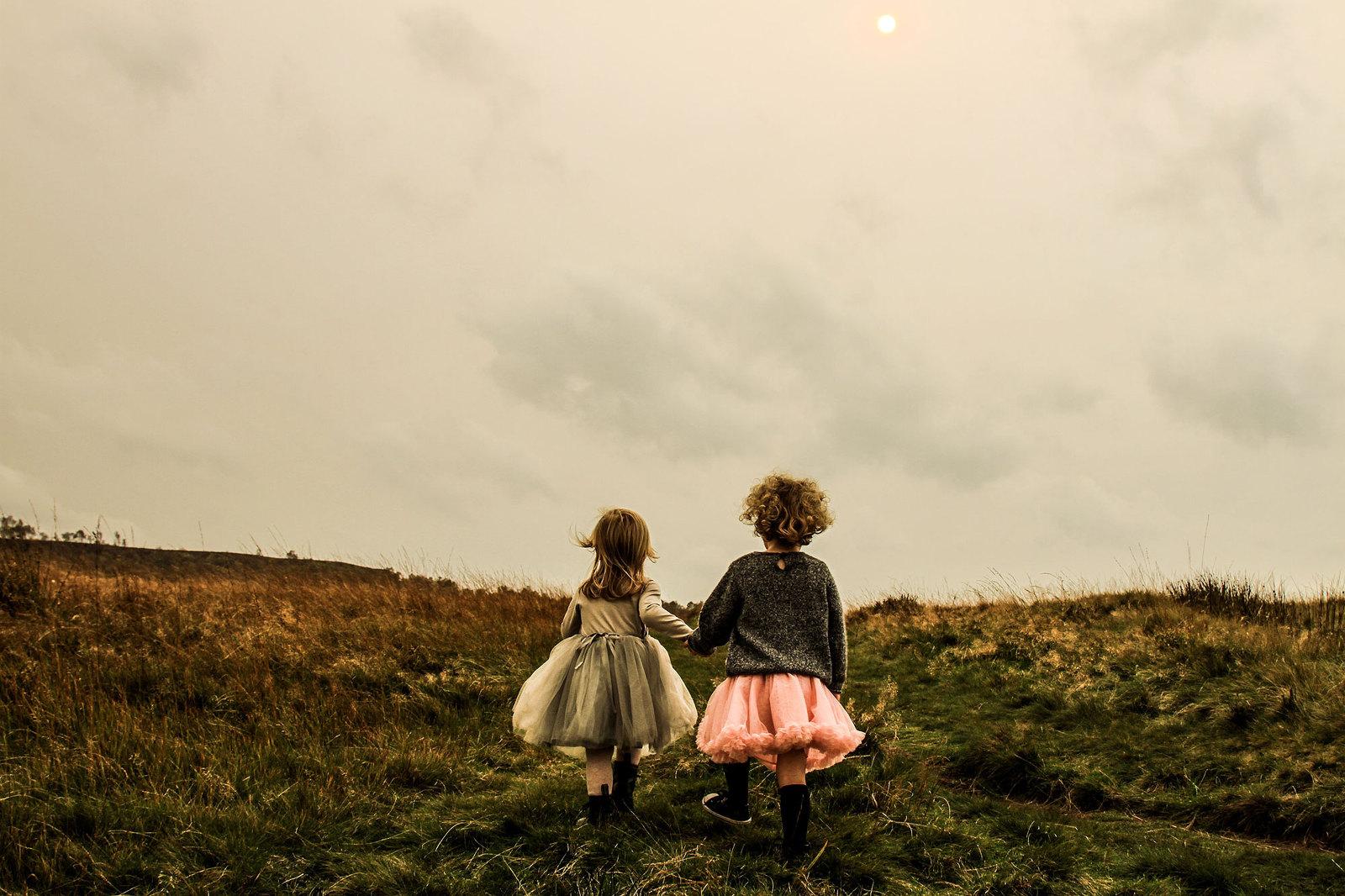 Girls Walking With Tutus
